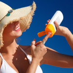 Sun Lotion and Hat